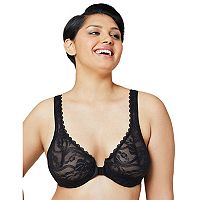 Glamorise Bra: Front-Closure Wonderwire Bra 9245 - Women's