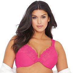 Glamorise Bra: Front-Closure Wonderwire Bra 1245 - Women's