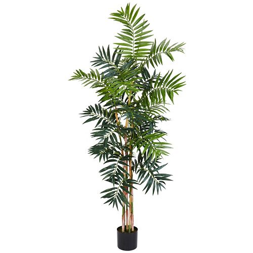 nearly natural 6-ft. Silk Bamboo Palm Tree