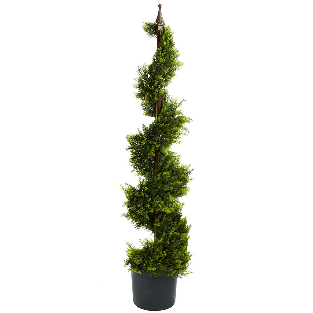 nearly natural 4-ft. Silk Cypress Spirial Tree