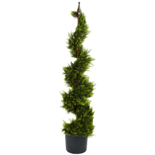 nearly natural 4-ft. Silk Cypress Spirial Tree