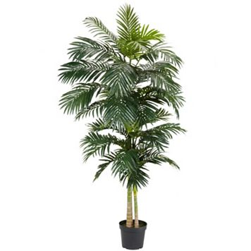 nearly natural 8-ft. Silk Golden Cane Palm Tree