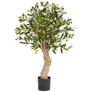 nearly natural 2 1/2-ft. Silk Olive Tree