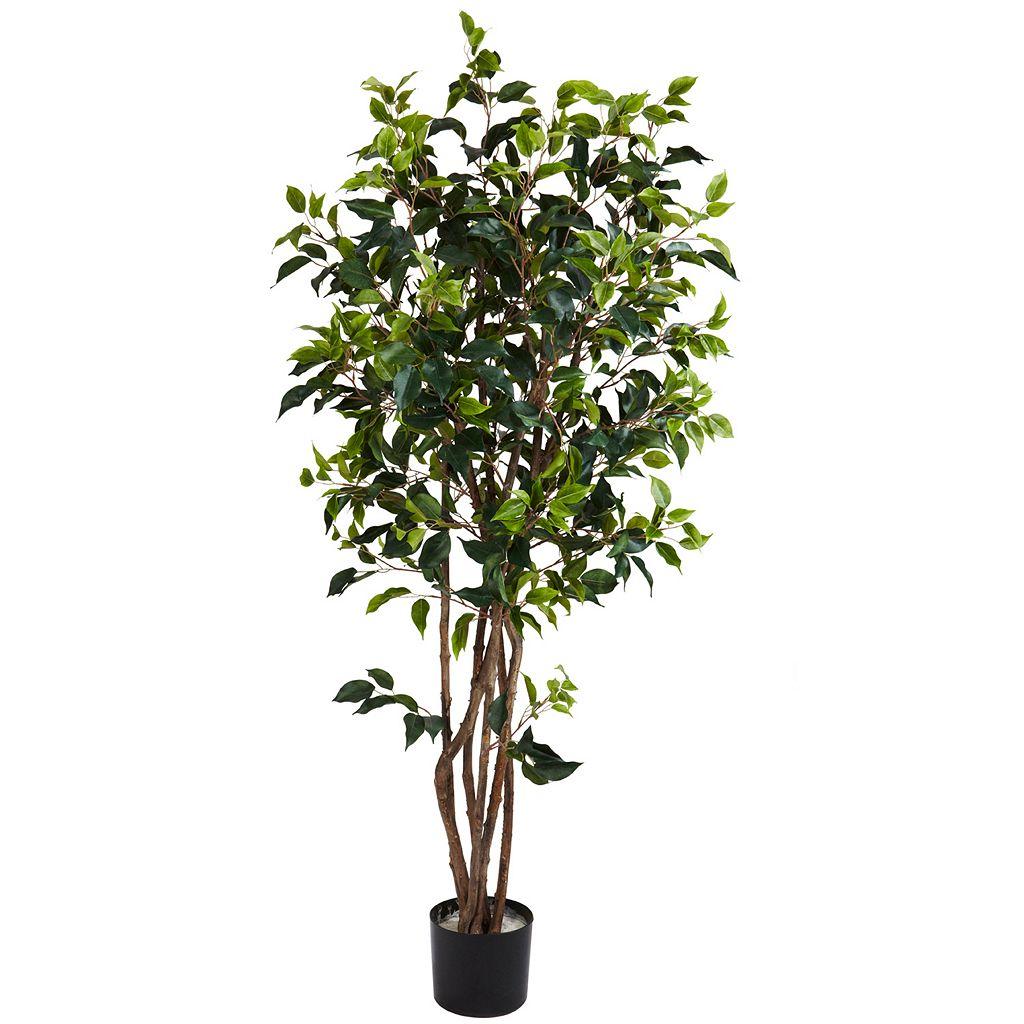 nearly natural 5-ft. Silk Ficus Bushy Tree