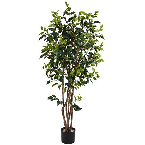 nearly natural 5-ft. Silk Ficus Bushy Tree