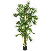 nearly natural Silk 6-ft. Areca Palm Tree