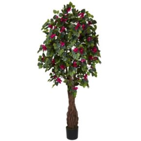 nearly natural Silk 6-ft. Multi Vine Bougainvillea Tree