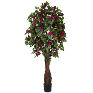 nearly natural Silk 6-ft. Multi Vine Bougainvillea Tree