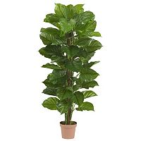 nearly natural Silk 63-in. Large Leaf Philodendron Plant