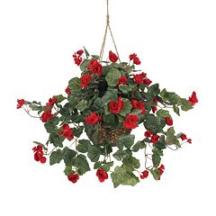 nearly natural Artificial Begonia Hanging Basket