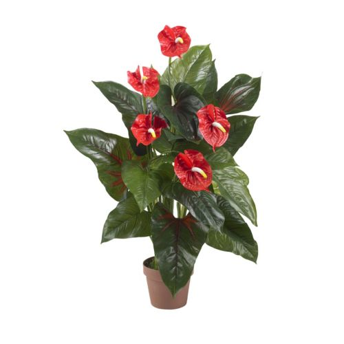 nearly natural Silk 3-ft. Anthurium Plant