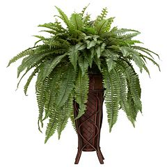 nearly natural Boston Fern with Stand Silk Plant