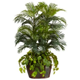 nearly natural Silk 4 1/2-ft. Double Areca and Pothos Plant