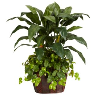 nearly natural Silk 4-ft. Double Bird of Paradise and Pothos Plant