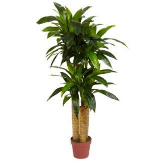 nearly natural Silk 4-ft. Corn Stalk Dracaena Plant