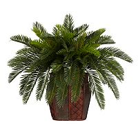 nearly natural Silk Double Cycas Plant