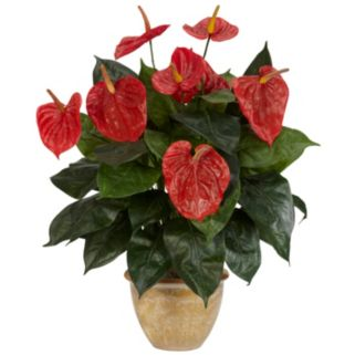nearly natural Silk Anthurium Plant
