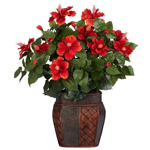 nearly natural Silk Hibiscus Plant