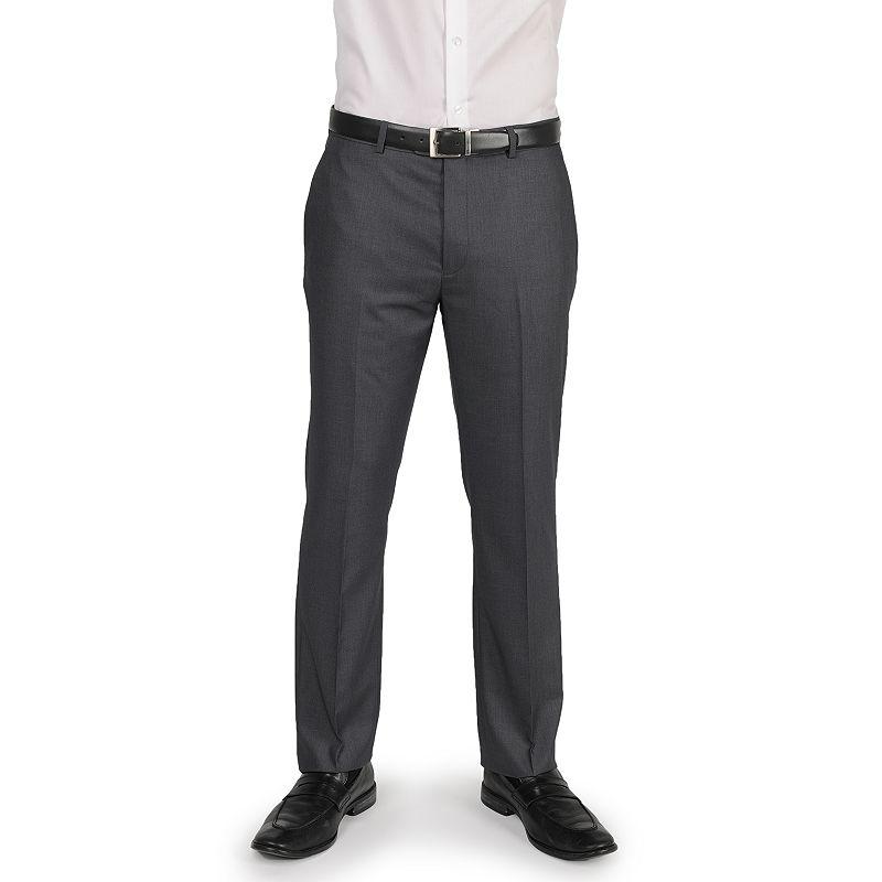 Apt. 9® Slim-Fit Solid Flat-Front Suit Pants - Men