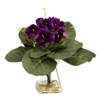 nearly natural Silk Gloxina Plant