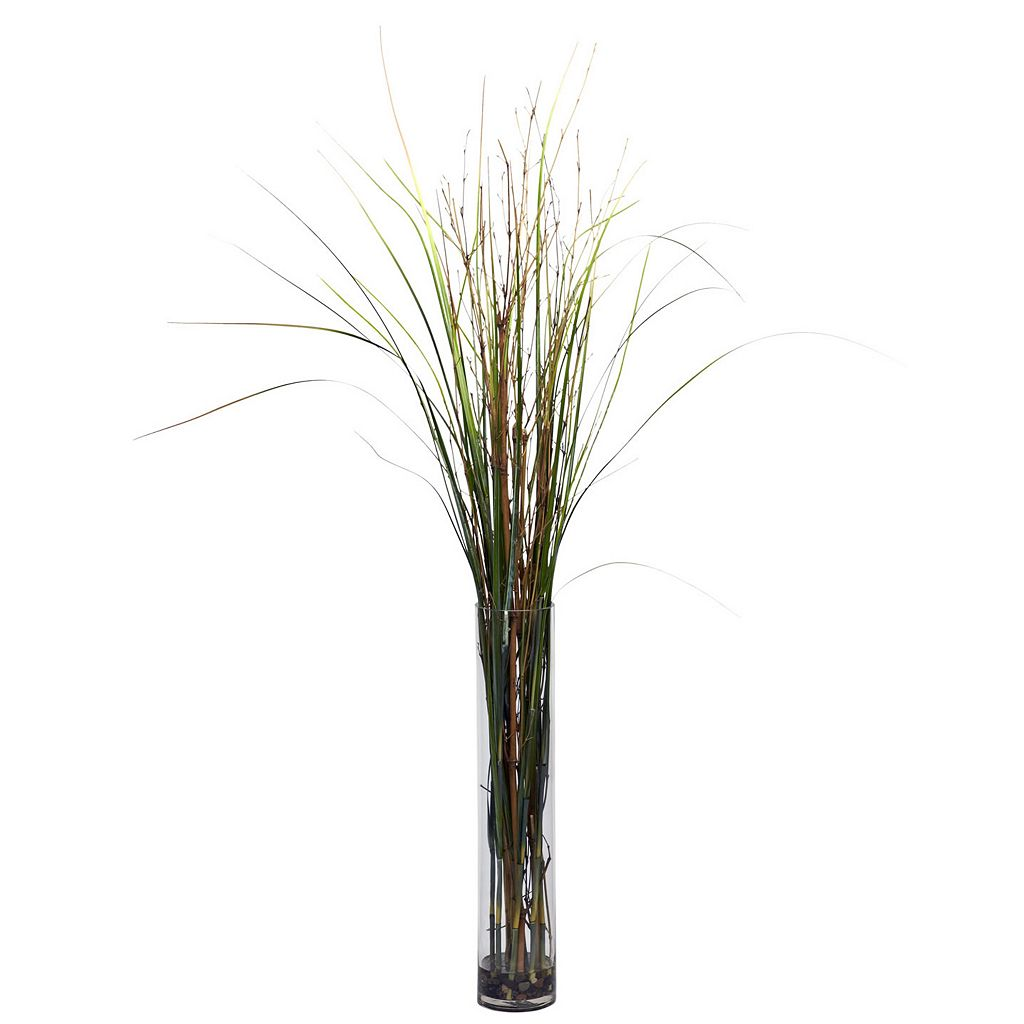 nearly natural Silk Grass & Bamboo Plant