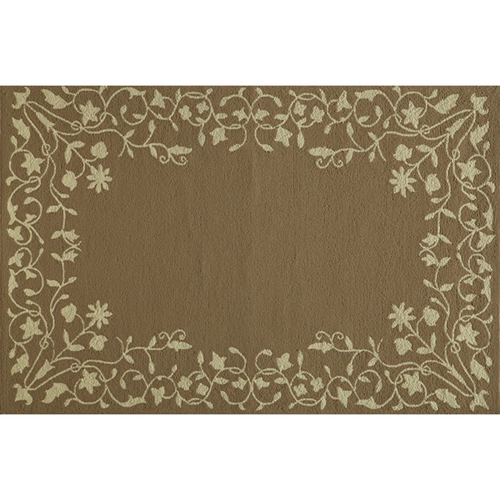Momeni Veranda Floral Scroll Indoor Outdoor Rug - 3'9