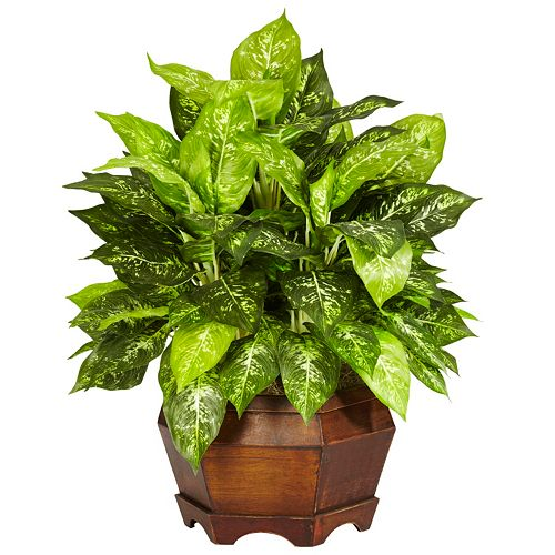 nearly natural Silk Variegated Dieffenbachia Plant