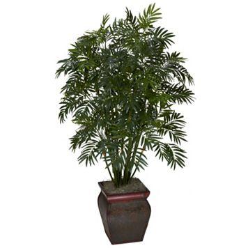 nearly natural Silk Mini Bamboo Palm Plant