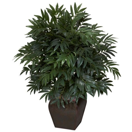 nearly natural Silk Double Bamboo Palm Plant