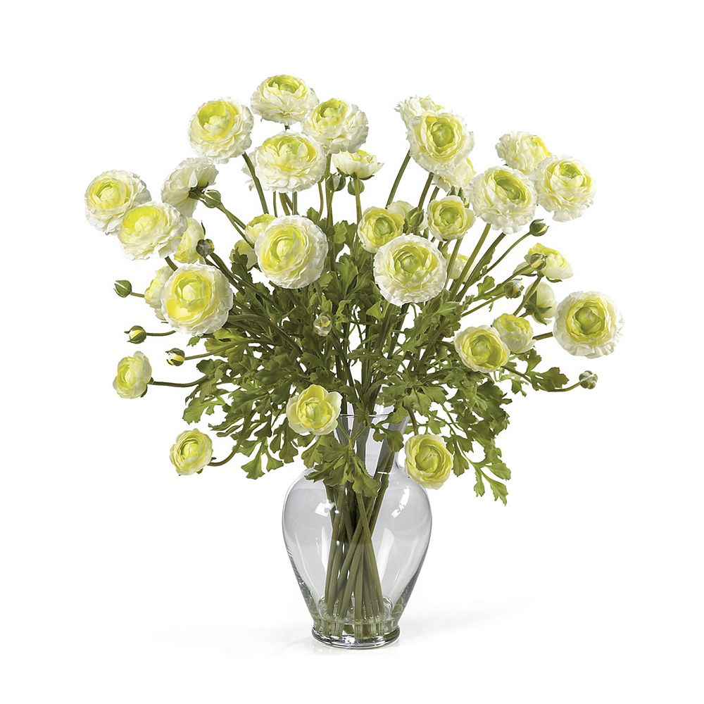 nearly natural Silk Ranunculus Floral Arrangement