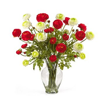 nearly natural Silk Ranunculus Floral Arrangement