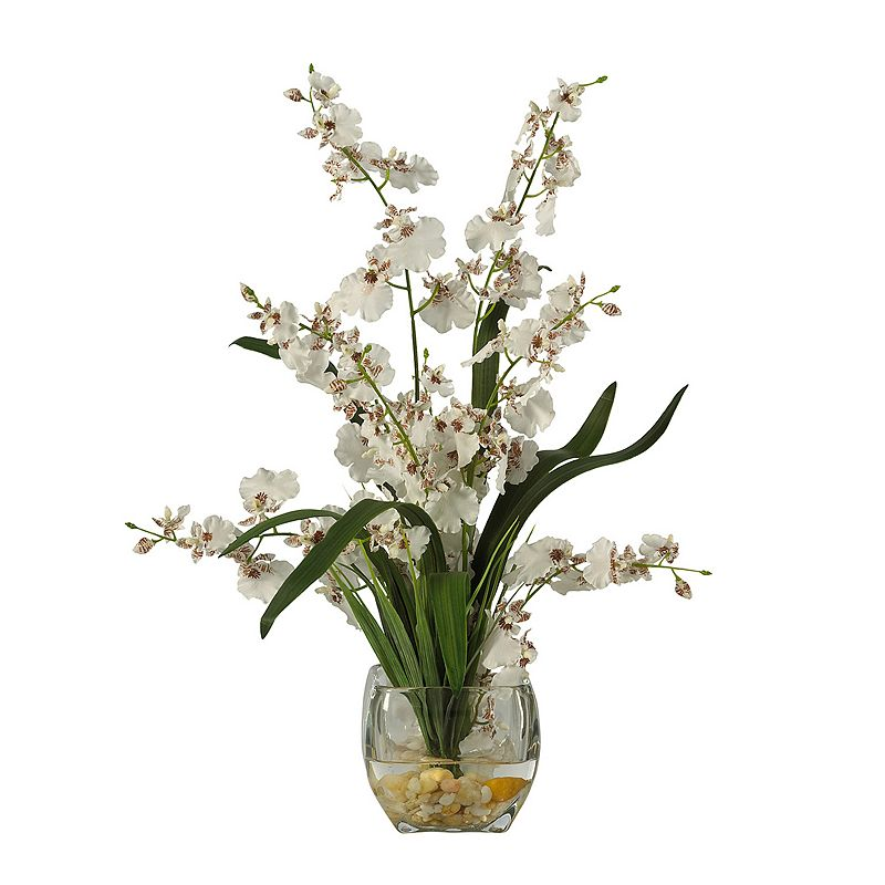 nearly natural Silk Dancing Lady Orchid Floral Arrangement