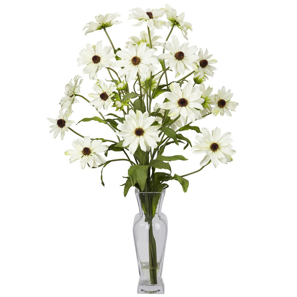 nearly natural Liquid Illusion Silk Cosmos Floral Arrangement