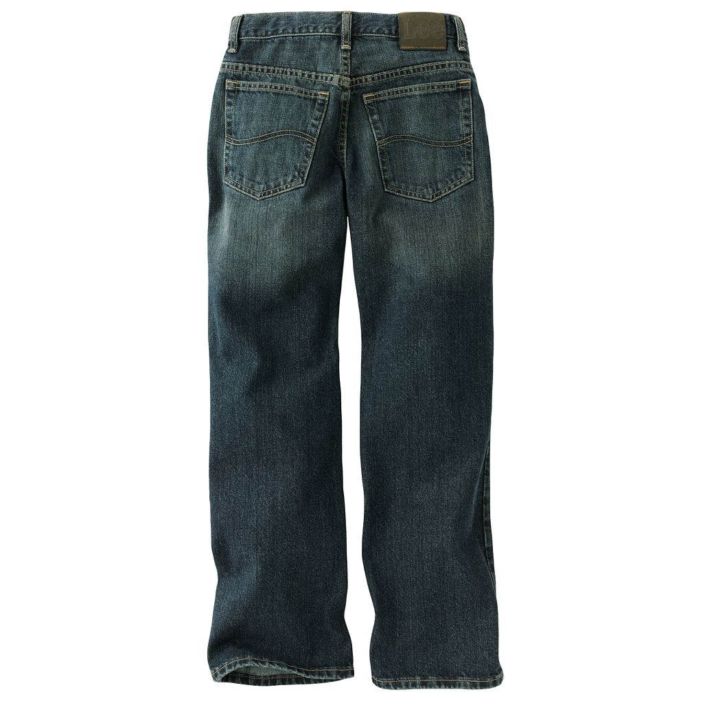 Boys 8-20 Lee Dark Quartz Relaxed Straight-Leg Jeans Husky