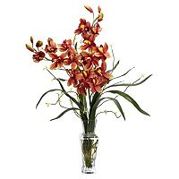 nearly natural Liquid Illusion Silk Cymbidium Floral Arrangement