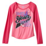Girls' Plus Size SO® Dance Graphic Baseball Tee