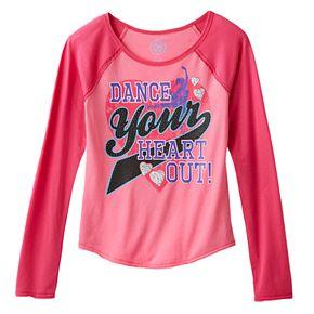 Girls' Plus Size SO® Dance Graphic Baseball Tee
