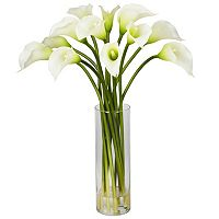 nearly natural Liquid Illusion 20-inch Silk Calla Lily Floral Arrangement