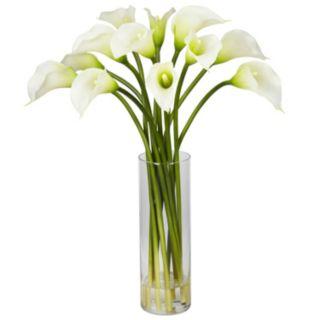 nearly natural Liquid Illusion 20-inch Silk Calla Lily Floral Arrangement