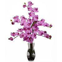 nearly natural Large Liquid Illusion Silk Phalaenopsis Floral Arrangement