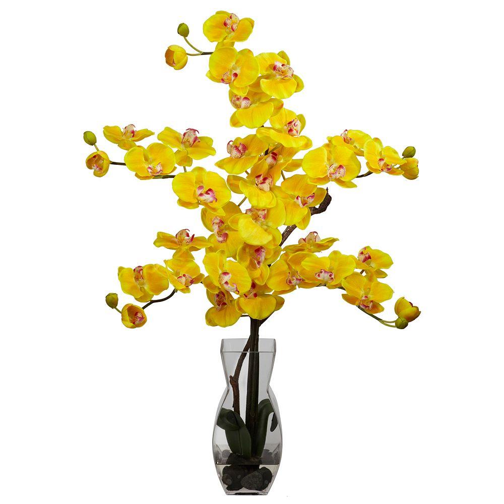 nearly natural Large Liquid Illusion Silk Phalaenopsis Floral Arrangement