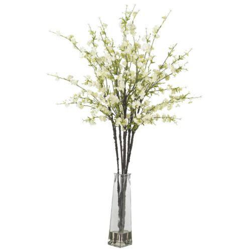 nearly natural Liquid Illusion Silk Cherry Blossom Floral Arrangement