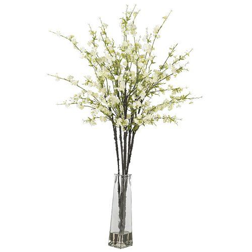 nearly natural Liquid Illusion Silk Cherry Blossom Floral Arrangement