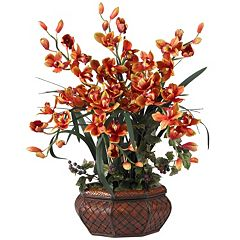nearly natural Silk Cymbidium Floral Arrangement
