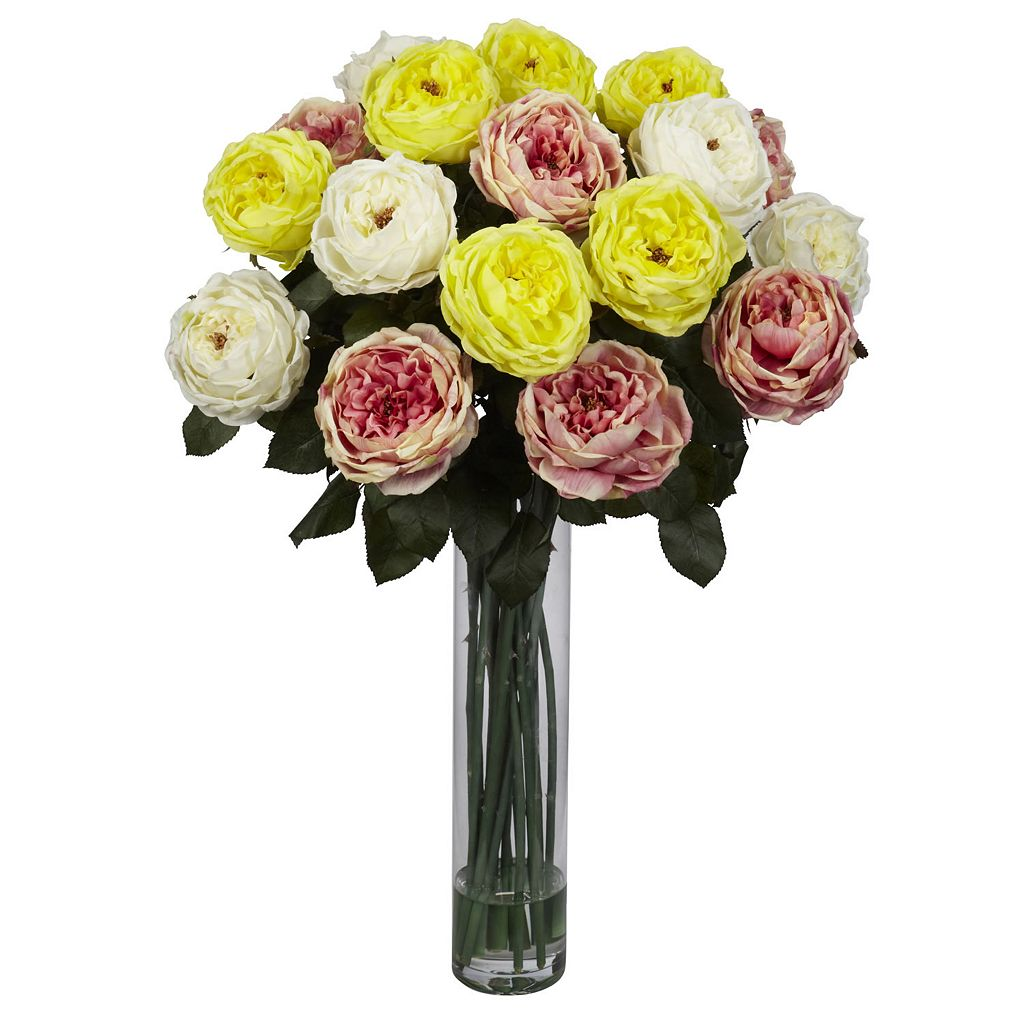 nearly natural Liquid Illusion Mixed Fancy Silk Rose Floral Arrangement