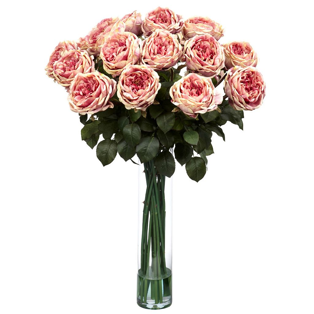 nearly natural Liquid Illusion Fancy Silk Rose Floral Arrangement