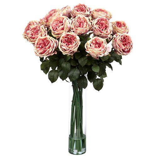 nearly natural Liquid Illusion Fancy Silk Rose Floral Arrangement