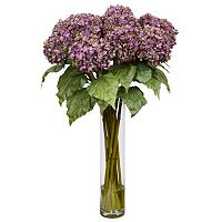 nearly natural Medium Liquid Illusion Silk Hydrangea Floral Arrangement