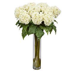 nearly natural Medium Liquid Illusion Silk Hydrangea Floral Arrangement