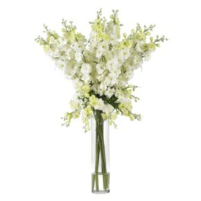 nearly natural Liquid Illusion Silk Delphinium Floral Arrangement